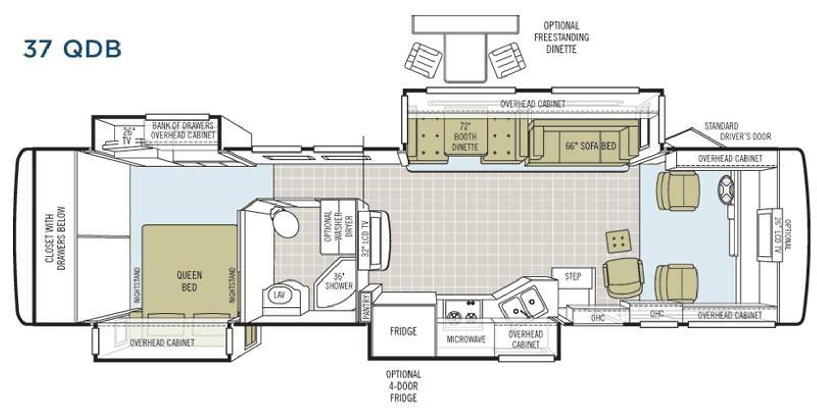 Tiffin Rv Floor Plansfull Specs For 2018 Wayfarer 24 Fw Rvs Motorhome Wiring Diagram Allegro Bay 37qdb Used Motorhomes Sale