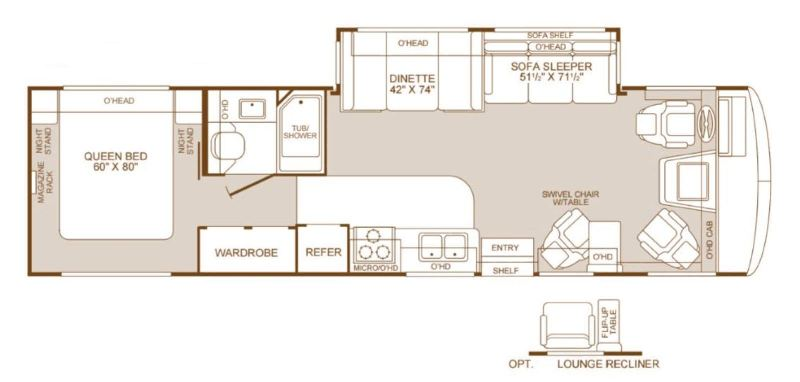 FLEETWOOD BOUNDER RV FLOOR PLANS Motorhomes For Sale Motorhomes