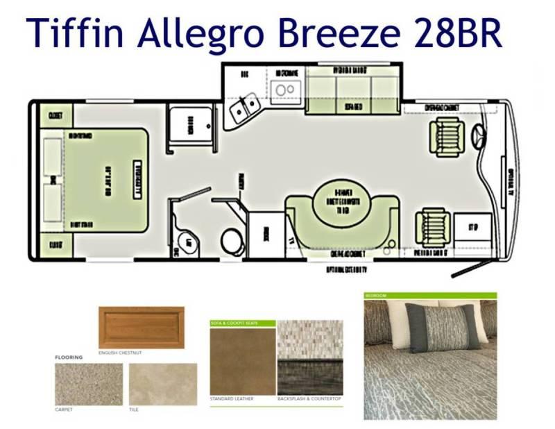 2015 Tiffin Allegro Breeze 28br Photos Details Brochure Floorplan